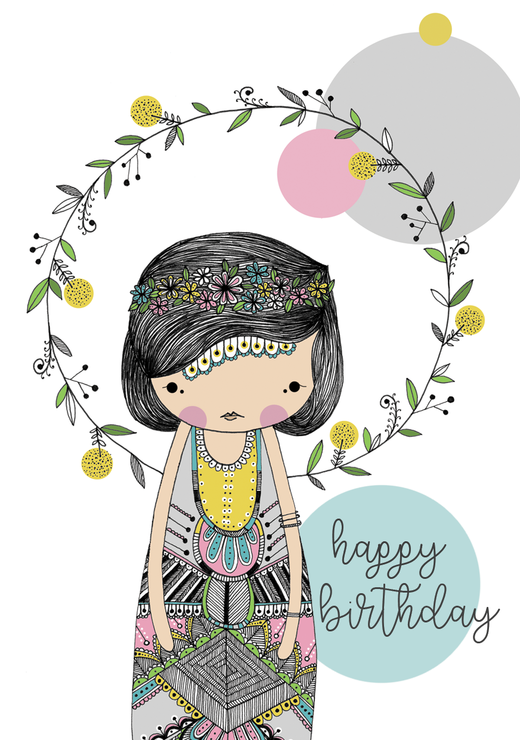 Lily Card | A6 by illo