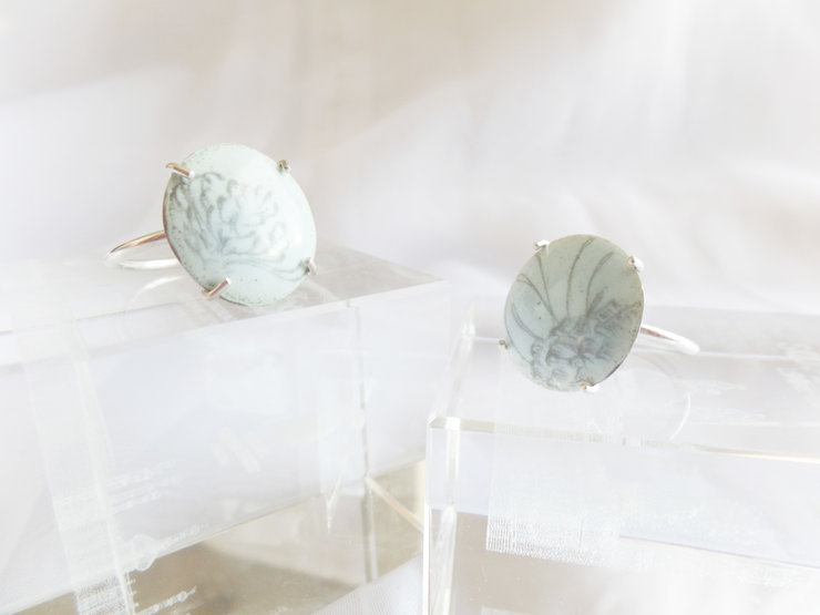 Limoge rings by Sugarbird Jewellery Design
