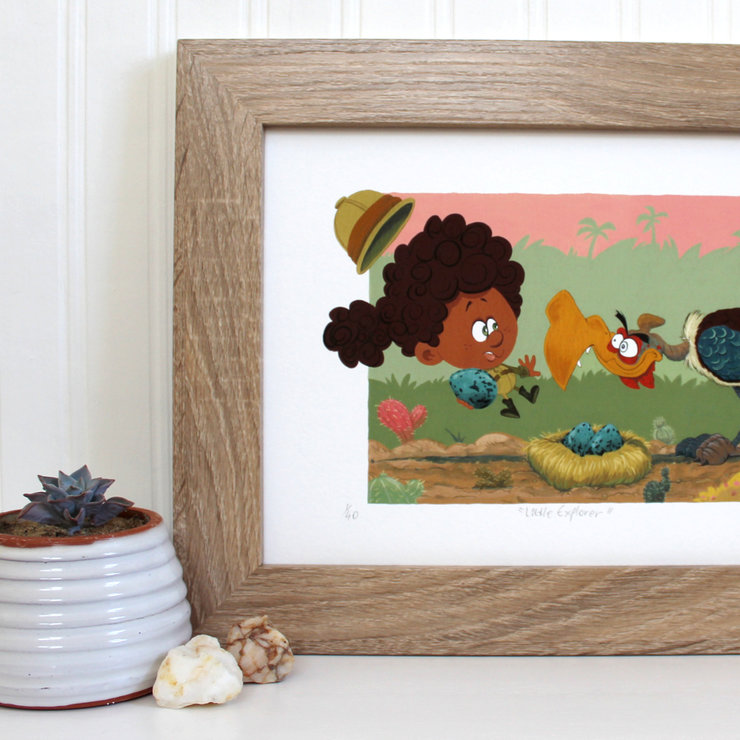 Little Explorer | Limited edition print by Terrapin and Toad
