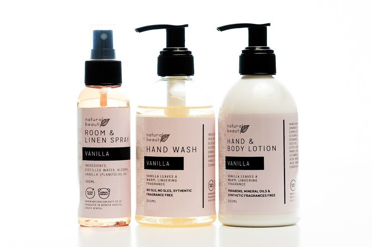 Vanilla Bathroom Set by NATURALS BEAUTY
