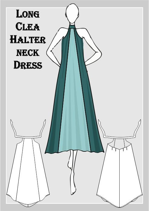 Long Clea Dress Sewing Pattern | Hello Pretty. Buy design.