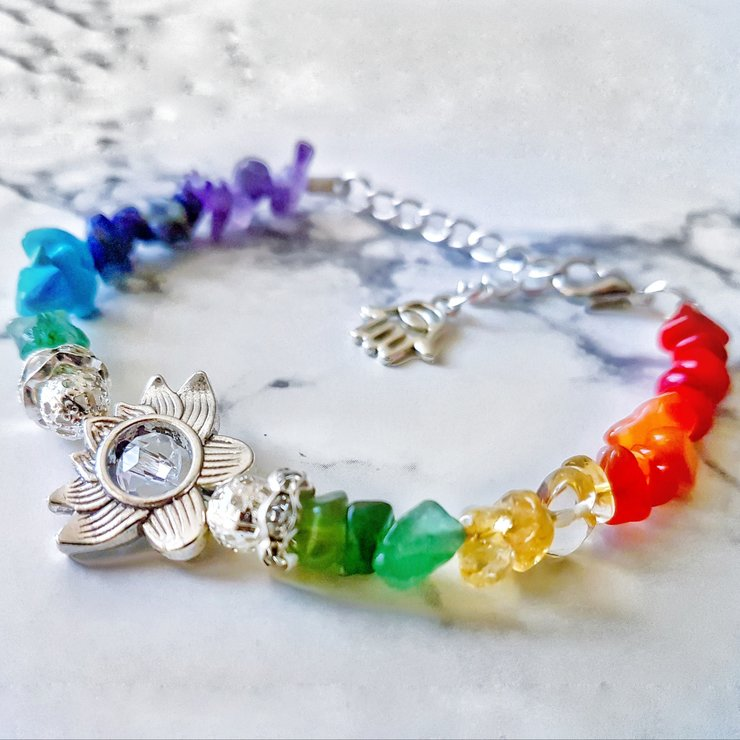 Sacred Lotus Chakra Gemstone Bracelet by Lakota Inspirations