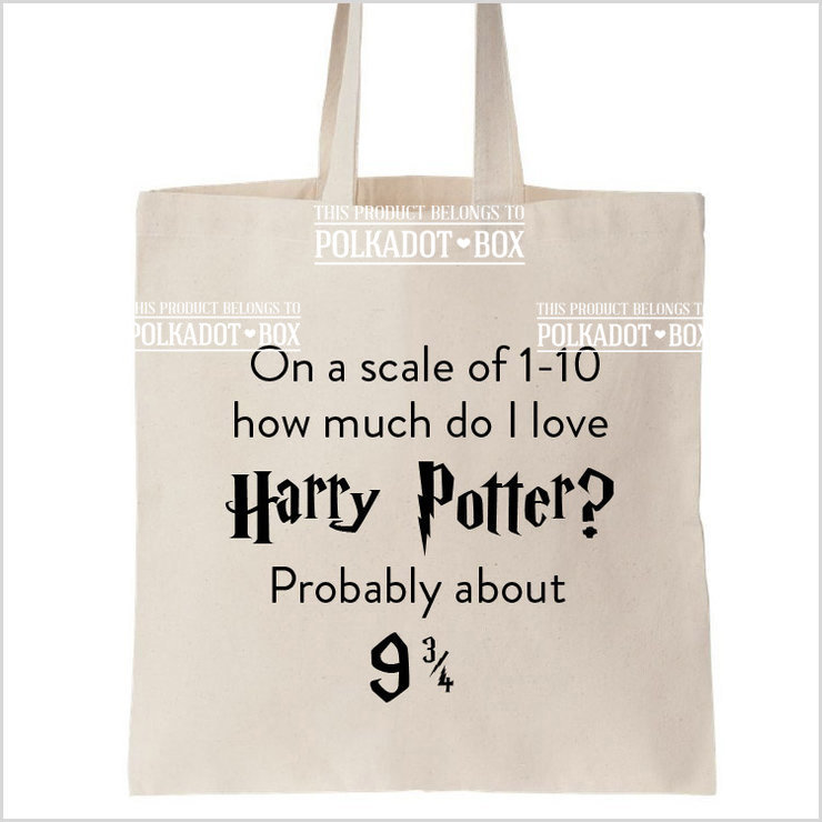 Harry Potter Quote tote bag by Polkadot Box