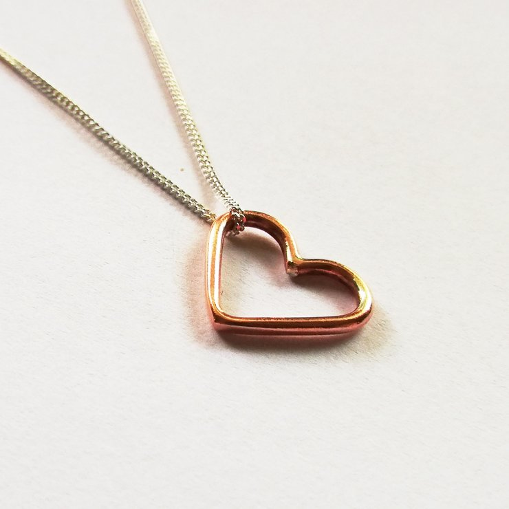 LOVE Necklace Copper by Miss H Jewellery Design
