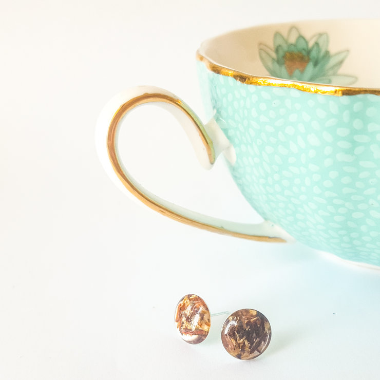 Rooibos Tea Dainty Studs by Miss Biffy
