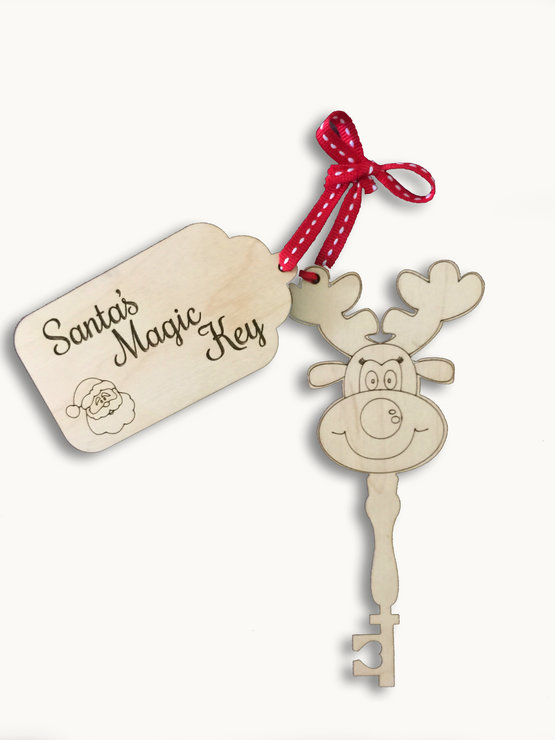 SANTAS KEY AND TAG (M0181) by Miss Magpie