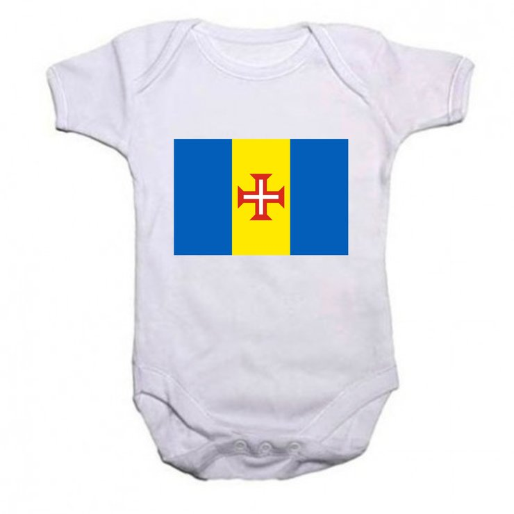 Madeira flag baby grow by Qtees Africa (Pty)Ltd