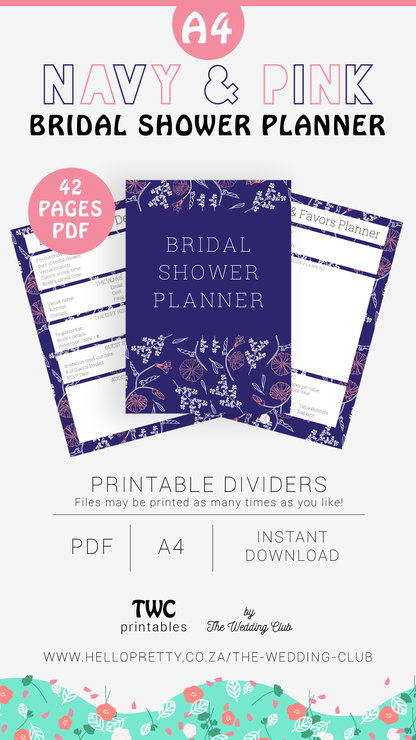 graphic relating to Maid of Honor Printable Planner called Military services Bridal Shower Planner - printable bridal shower developing sheets