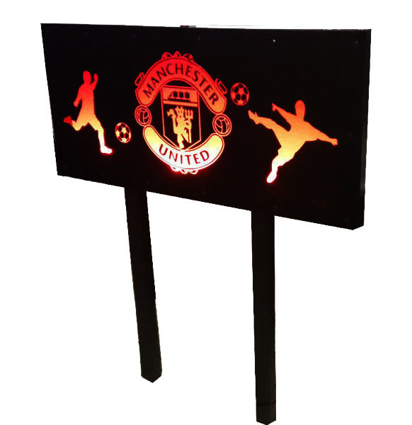 Manchester United Single Bed Headboard And Nightlight All