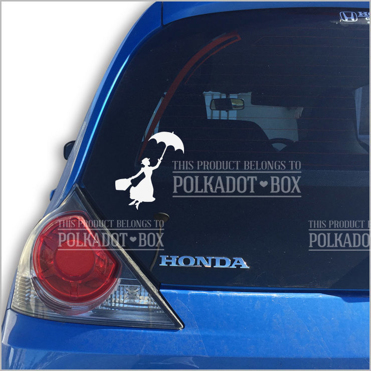 Mary Poppins Car Decal by Polkadot Box