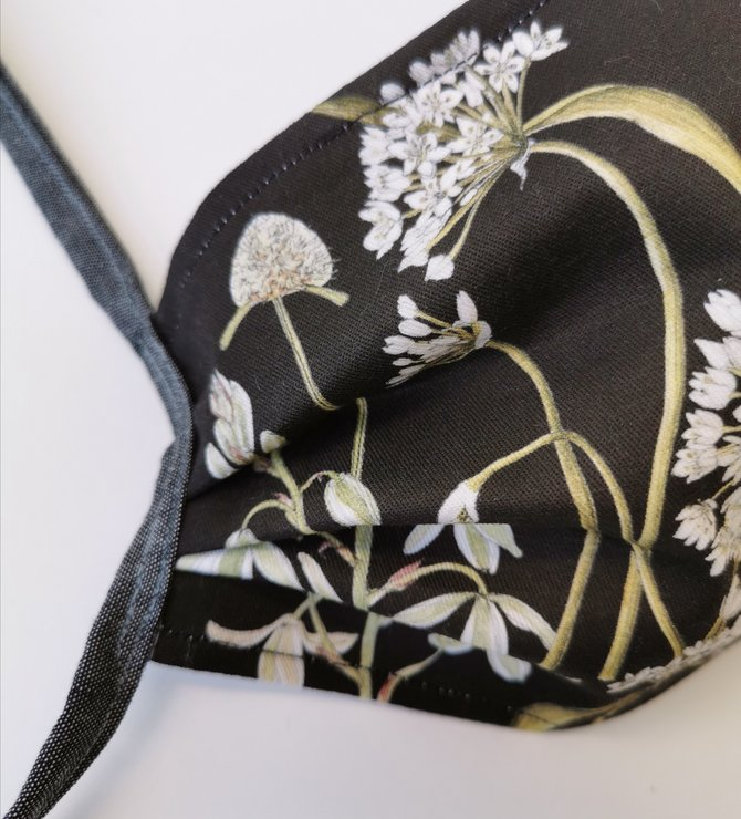 Face mask ~ Botanical fynbos art by CoralBloom Studio