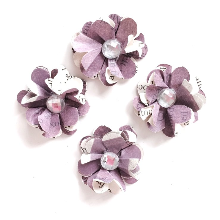 Mini Paper Flowers Scented Stick On Pack Of 4 Hello Pretty Buy