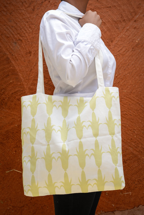 Gold Corn Tote bag by Down South  Hand Made Co