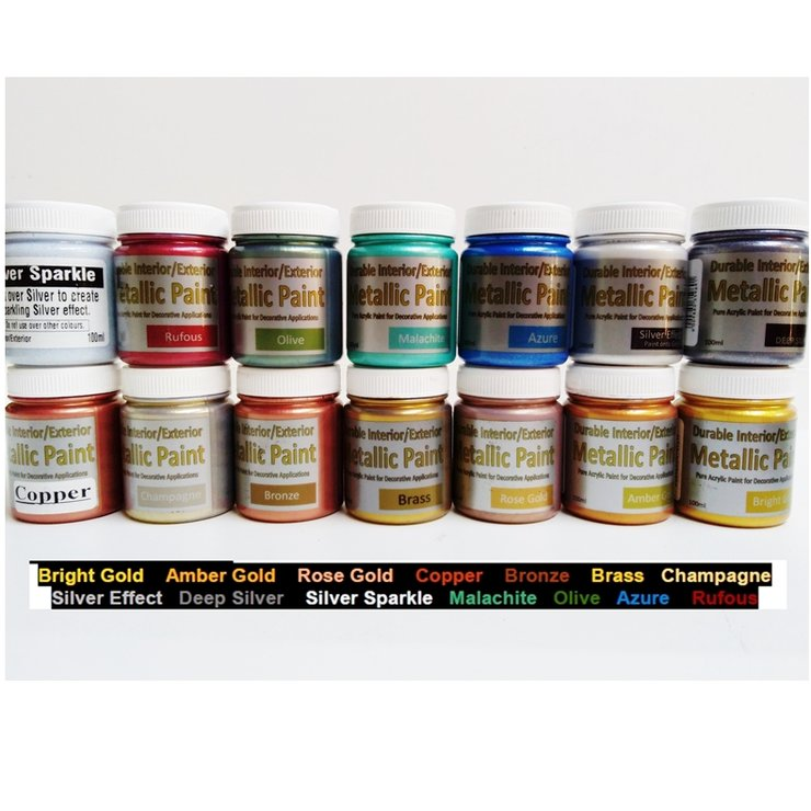 Metallic Combo Pack - Includes 14 Metallic Colours by Bastion Paint - Special Effect Paints
