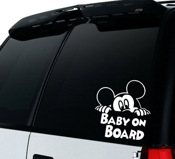 Mickey Mouse Baby on Board Car decal Sticker / Mickey Mouse Baby on board/ Car decal  by Little Lion Cub Boutique