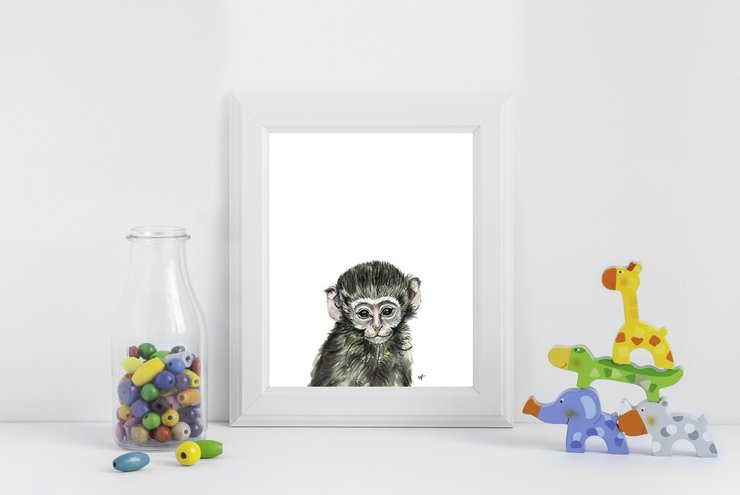 Meet Milo The Monkey by Teebird Designs