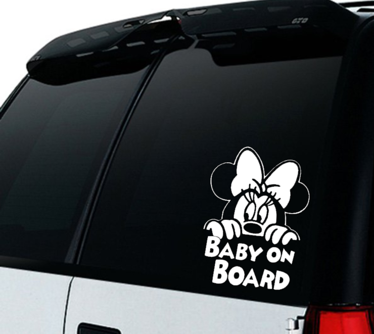Minnie Mouse Baby on Board Car decal Sticker / Minnie Mouse Baby on board/ Car decal   by Little Lion Cub Boutique