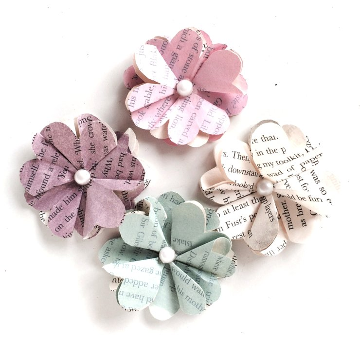 Paper flowers scented stick on pack of 4 hello pretty buy design paper flowers scented stick on pack of 4 by whimsy lou mightylinksfo
