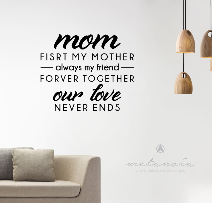 Mom - Vinyl Decal by Metanoia Graphic Design