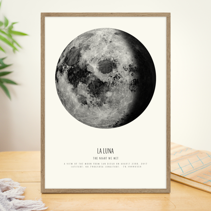 Custom Lunar Phase Moon Poster (Digital Download)   by Fifth House