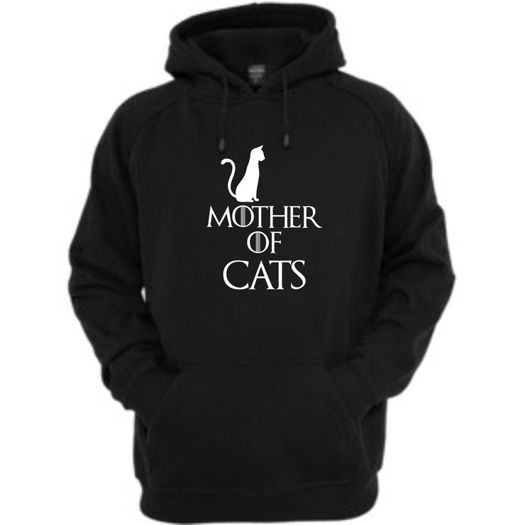 Mother of cats hoodie front print by Qtees Africa (Pty)Ltd