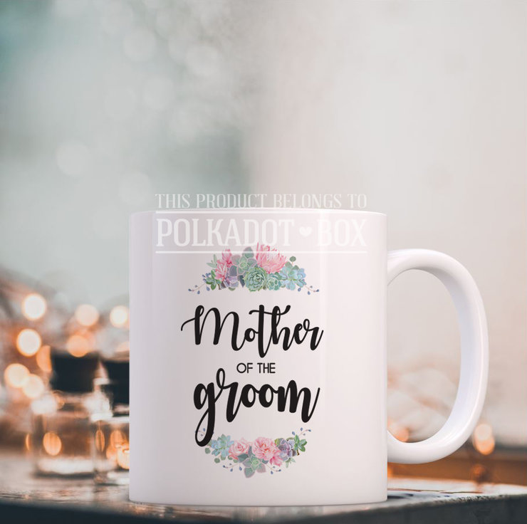 Mother of the groom mug by Polkadot Box