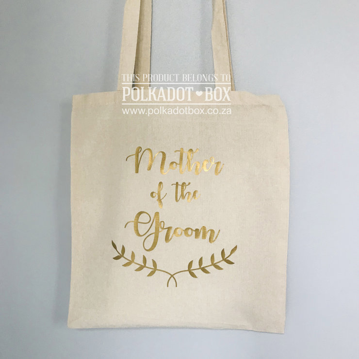 Mother of the Groom tote bag by Polkadot Box