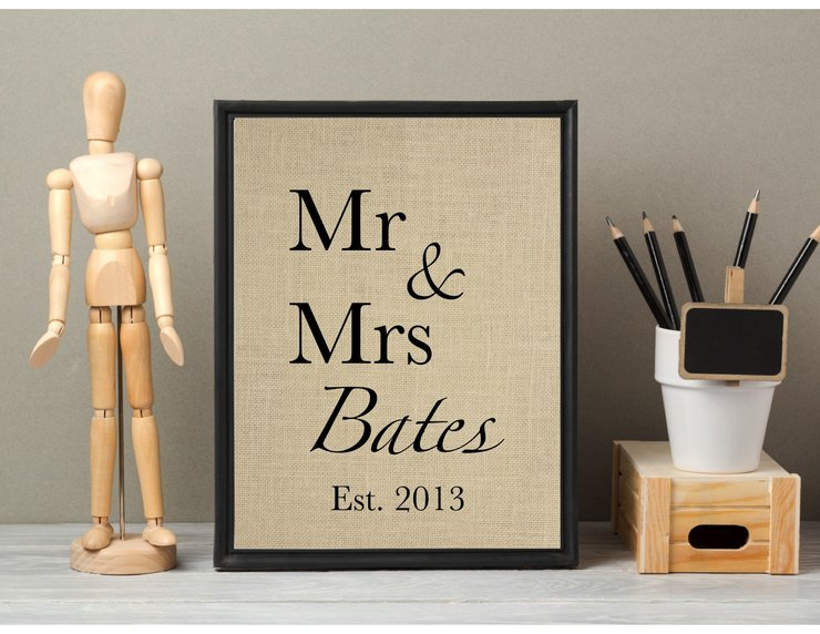 Mr & Mrs Print by Little Trading Co.