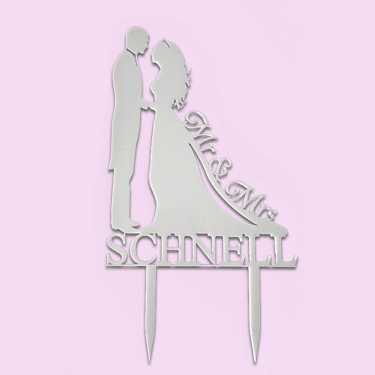 Custom Silhouette Cake Topper (Wood or acrylic) by Polkadot Box