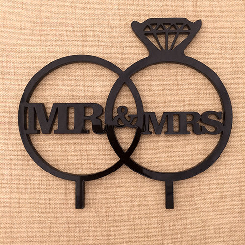 Cake Topper - Mr & Mrs Ring by Laser Creations