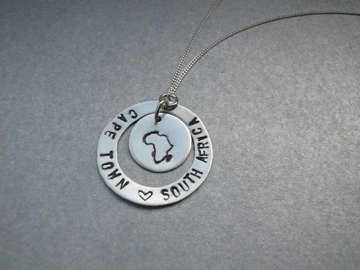 Silver Africa Necklace By Gk Jewellery
