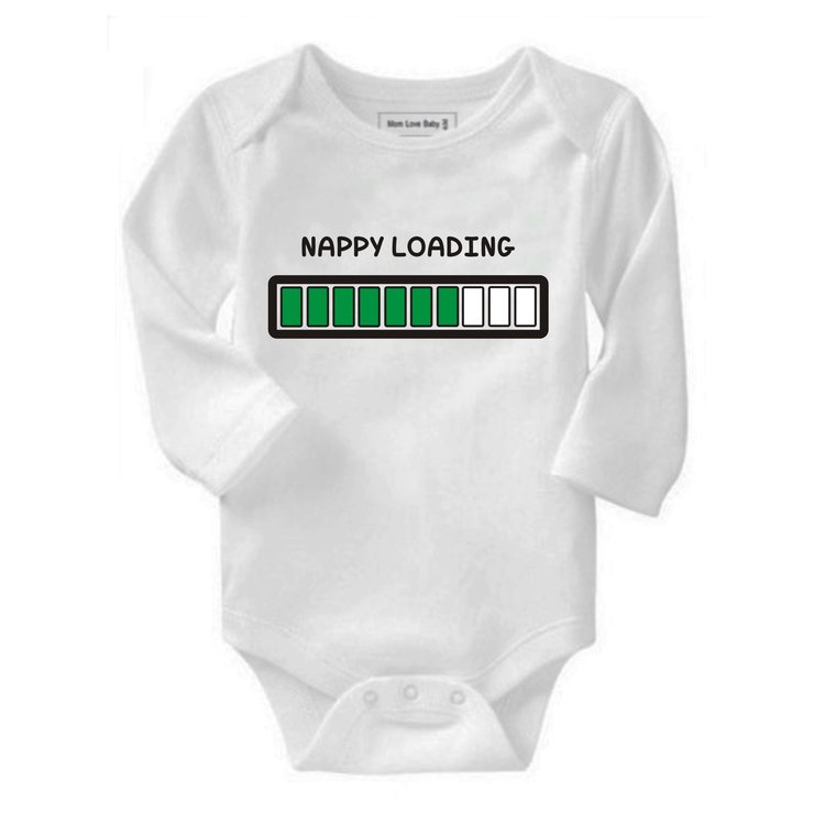Nappy Loading baby grow by Qtees Africa (Pty)Ltd