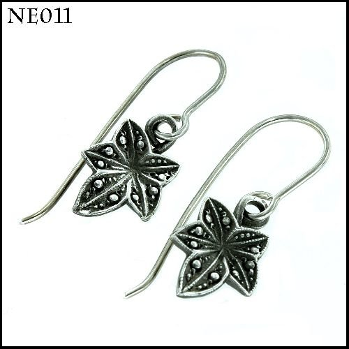 Dainty Sterling Silver Marcasite-Look Earrings by Artisan Jewellery