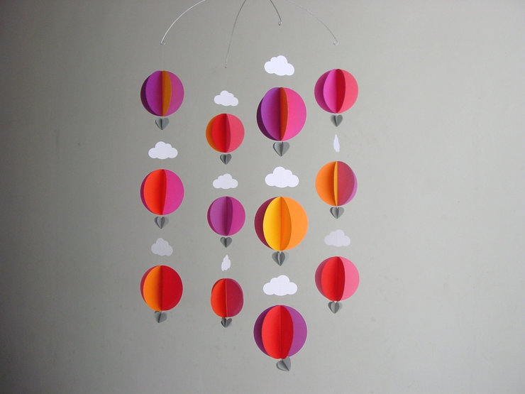 "Hot Air Balloon Baby Mobile ""Nicely Spicy"" by younghearts"