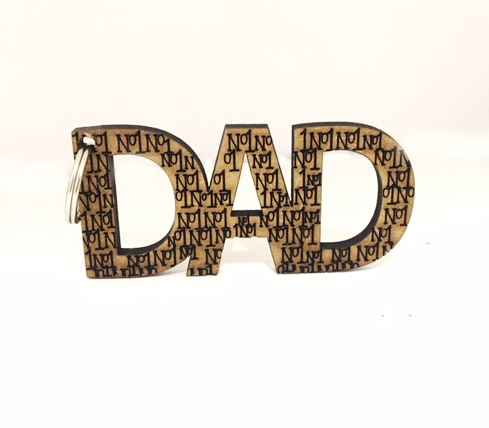 No1 DAD Keyring by Miss Magpie