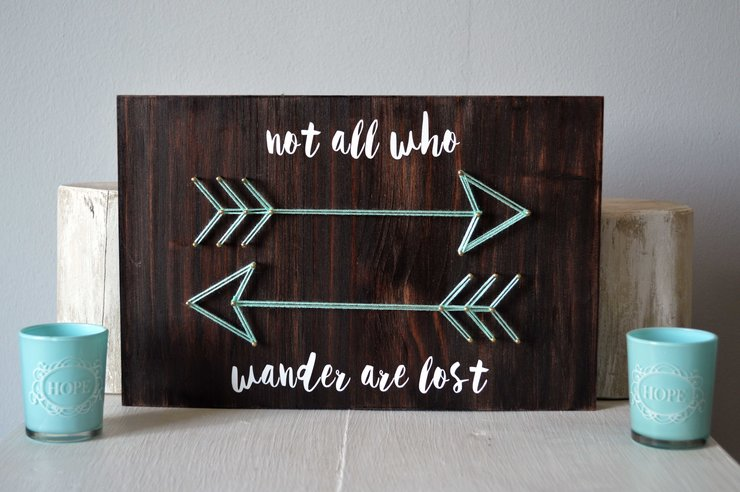 Not All Who Wander String Art by Heartstrings and Creative Things