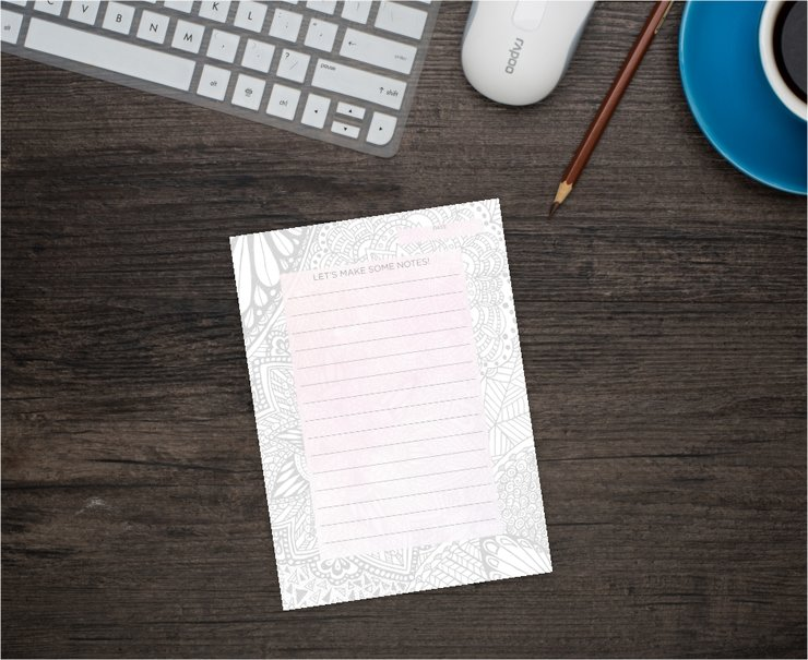 Creative Original Jotter Pad/Notepad A6 by Scarlet and Mel
