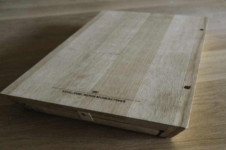 chopping board from reclaimed oak and european beech timber by stefan fourie design