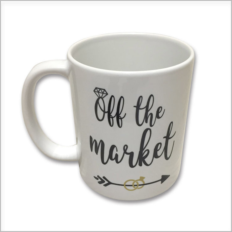 Off the market wedding mug by Polkadot Box