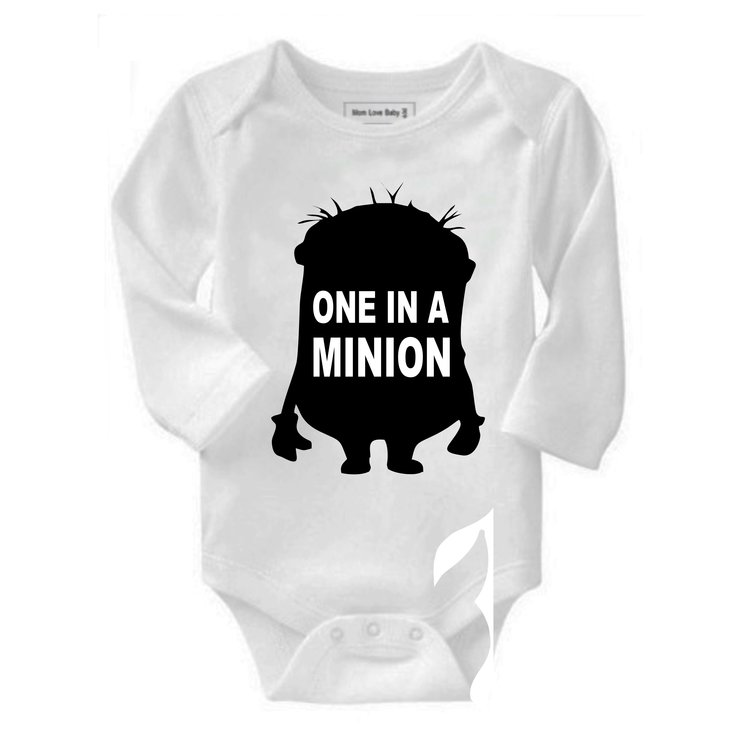 One in a minion baby grow by Qtees Africa (Pty)Ltd
