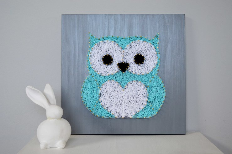 Owl String Art by Heartstrings and Creative Things