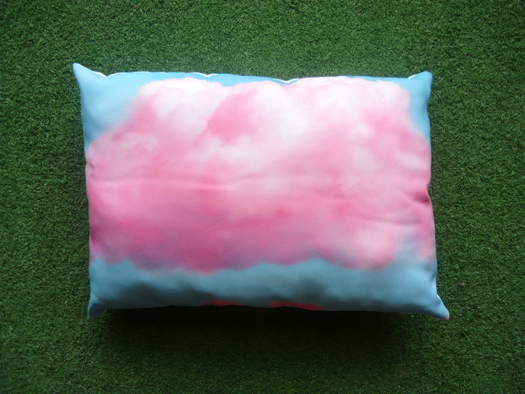 Pink Clouds A3 Pillow by But Why Not