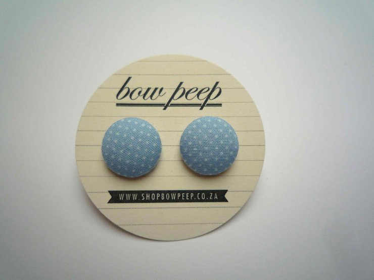 light blue and while polka dots by Bow Peep