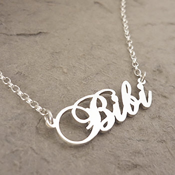 Custom Sterling Silver Name Necklace by Starbright Jewellery e247b6b4c