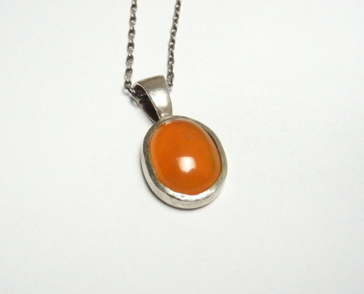 carnelian zoom pendant designers slice necklace product in margaret nd solow