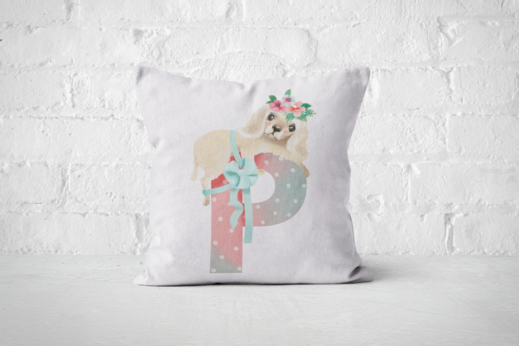 Pretty Letters Pillow Cover - P by But Why Not