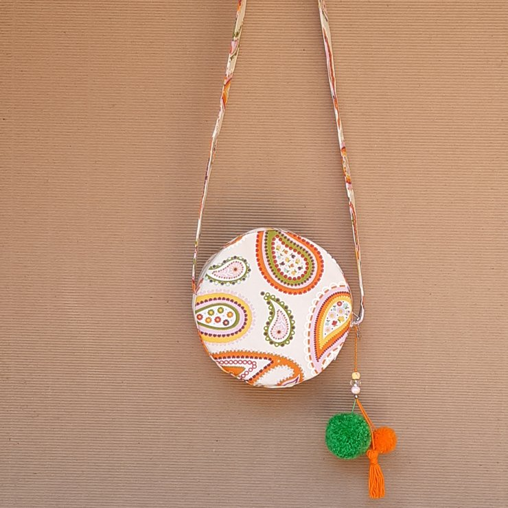 Paisley circle bag by Heavenly Handmade