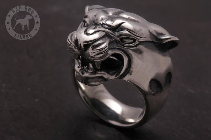 Panther Ring by Bad Dog Silver