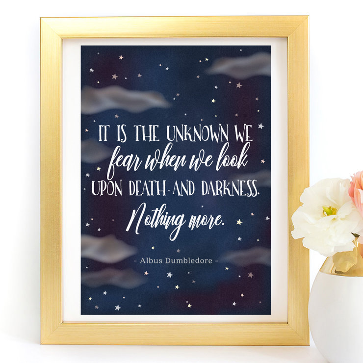 It is the unknown we fear Harry Potter printable digital Art  by Paper Ponies Boutique