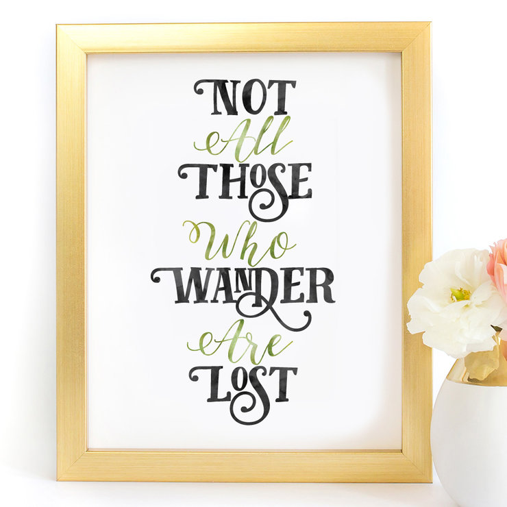 Not All Those Who Wander Lord Of The Rings Digital Printable Art Print by Paper Ponies Boutique